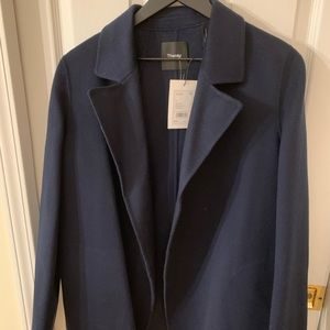 Theory overlay coat wool/cashmere Sileena navy M